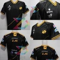 Jersey Kaos Baju Gaming RRQ 2020 BLACK ML, AOV,PB, PUBG Free Nick - S