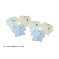 1 Set isi 6 Pcs, Baju Panjang Bayi Yenora, 3-6 bulan Uk All Size - SALUR