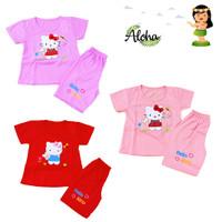 Baju Setelan Anak Perempuan Motif Hello Kitty Sayap 2-5 thn