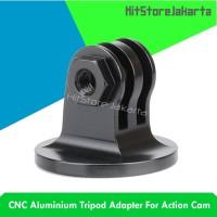 CNC Aluminium Tripod Adapter Aksesoris GoPro Xiaomi Yi SJCAM - Hitam
