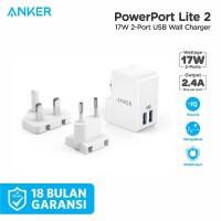 Anker PowerPort Lite 2 Ports White - A2022G21