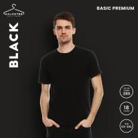 Kaos Polos KALOSTEE Premium Basic 28s 100% Cotton Black XXL-XXXL - XXL