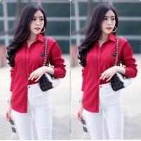 Kemeja Lover Merah [Baju Atasan Wanita 0117] TIO