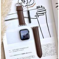 Strap Leather Kulit Apple Watch Series 2 3 4 38mm 40mm 44mm 42mm IWO 9