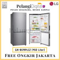 LG Kulkas 2 Pintu Bottom Freezer - 450 Liter - GN-B519PLCZ