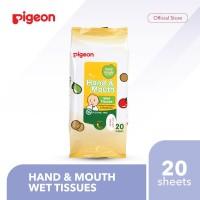 PIGEON Hand and Mouth Wet Tissue - 20 Sheets | Tisu Basah Bayi