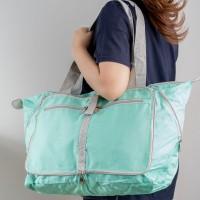 Korean Waterproof Foldable Travel Bag   Tas Belanja Lipat Tahan Air