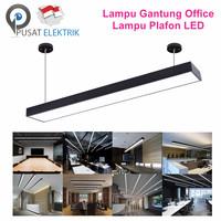 LAMPU GANTUNG LED LAMPU PLAFON LED OFFICE LAMP - HITAM 36W