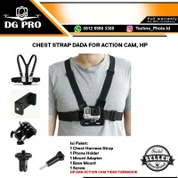 Chest Strap Tali Dada Handphone & Kamera Mount Body Belt Holder Clip