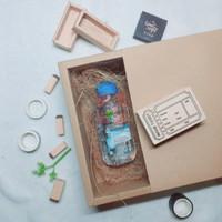 Sliding Box QOTAQU | Gift Box | Box Kado 20 x 20 x 7 cm