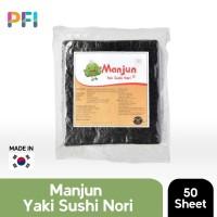 MANJUN YAKI NORI SUSHI SEAWEED 125 GR 100% kOREA RUMPUT LAUT 50 sheet