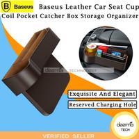 BASEUS Leather Car Seat Cup Coil Pocket Catcher Box Storage Organizer