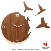 Jam Dinding Unik Artistik - FLYING BIRD - Wall Clock Sweep movement