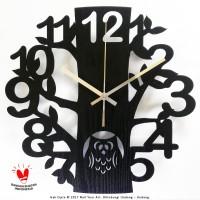 Jam Dinding Unik Artistik - BlackOwl Wall Clock