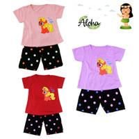 Baju Setelan Anak Perempuan My Little Pony Pelangi bordir