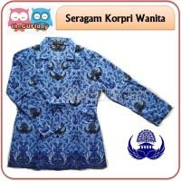 Seragam korpri wanita Baju PNS wanita Seragam PNS biru Batik korpri