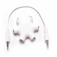 Jack 6 way ports male to 5 female Spliter audio aux 3.5mm