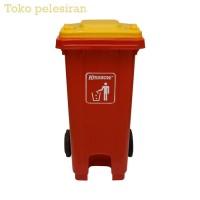 Krisbow 240 Ltr Tempat Sampah Plastik - Merah-10180592 - premium