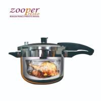 Panci Presto Ayam Tulang Lunak ZOOPER Stainless Steel 6 Liter Premium