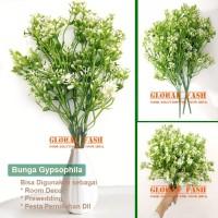 Bunga Baby Breath - Gypsophila Artificial Latex Import -White - small