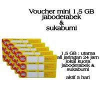 VOUCHER PAKET DATA INDOSAT MINI 1,5GB LOKAL JABODETABEK & SUKABUMI