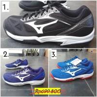 Voli ORIGINAL Mizuno cyclone speed 2 black blue sepatu volley volly