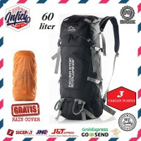 Tas Ransel Gunung Outdoor 60 Liter Carrier Hiking Traveling Camping