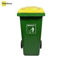 Krisbow 240 Ltr Tempat Sampah Outdoor - Hijau/Kuning- premium