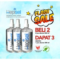 Hepisel Disinfectant Spray (Buy 2 @500 ml, Free 1 @500 ml)
