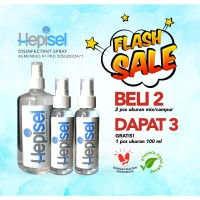 Hepisel Disinfectant Spray (Buy 2 Mixed Size, Free 1 @100 ml)