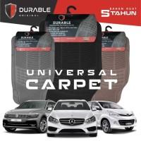 DATSUN GO PLUS DURABLE Karpet Karet PVC 3 Pcs Beigie