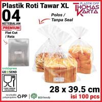 28x39.5 cm Plastik OPP TEBAL (POLOS)   Plastik Roti Tawar roti sobek