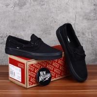 Sepatu Vans Zapato Full All Black Hitam Polos - Original Premium