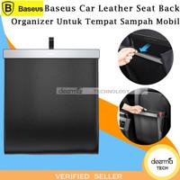 Baseus Car Leather Seat Back Organizer Untuk Tempat Sampah Mobil