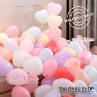Balon Latex Love Macaron / Balon Karet Hati Pastel / Balon Love
