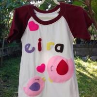 baju flanel gambar anak ayam dan induknya