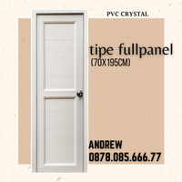 Pintu PVC kamar mandi/kamar tidur PVC CRYSTAL best seller
