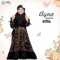 Hot Produk Gamis Anak Ayna Black 6-7Th Ukuran Xl Pakaian Muslim Anak