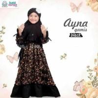 Dijual Gamis Anak Ayna Black Size Xxl Untuk Anak 7-12Thn Pakaian Baju