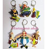 Action Figure Gantungan Kunci Asterix isi 6 loose Plastoy
