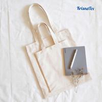 Krisnatex Tote Bag Kanvas Natural Polos Cotton Kecil Potrait