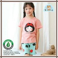 Baju anak summer korea / baju anak bahan organik/ snow white - 90