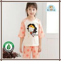 Baju summer anak korea / baju bahan organik supergirl