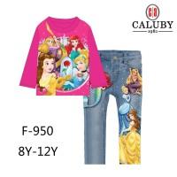 Piyama Anak Perempuan Princess Disney size besar 8 9 10 11 12 th