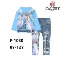 Piyama Anak Perempuan Princess Elsa Frozen size besar 8 - 12 th