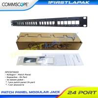 Patch Panel 24 Port Cat5e Cat6 AMP Commscope Modular Jack Rack Server