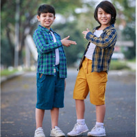 Celana Pendek Anak Laki-laki Kargo/Cargo P. Finder Rickplay Usia 6-14T