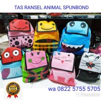 TAS RANSEL ANIMAL SPUNBOND Souvenir ulang tahun anak unik goodie Bag
