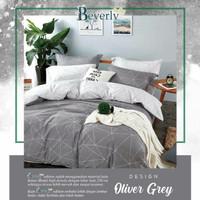 sprei dan bad cover motif beverly deluxe oliver grey 180X200x20