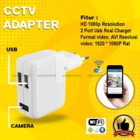 Wifi Wireless spy camera USB charger - cctv adapter - cctv charger
